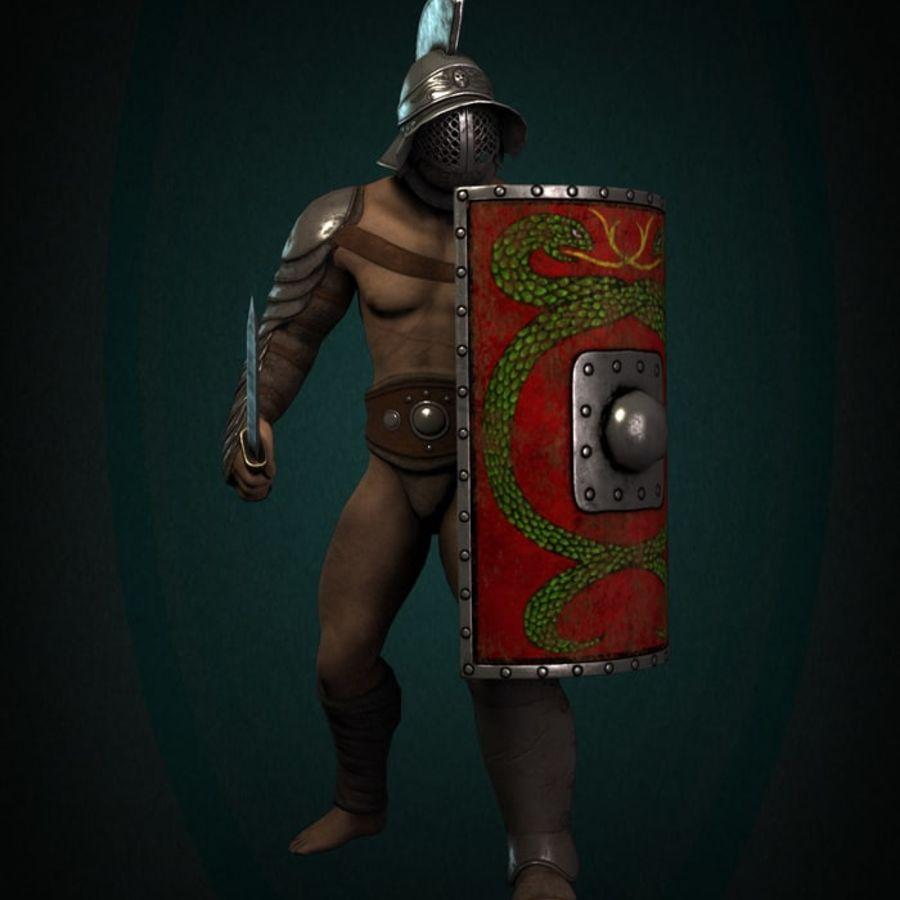 Gladiador Guerreiro royalty-free 3d model - Preview no. 2