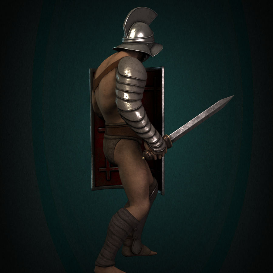 Gladiator Warrior royalty-free 3d model - Preview no. 6