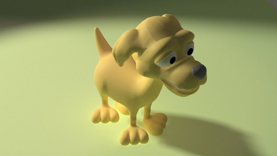 Cartoon Dog royalty-free 3d model - Preview no. 4