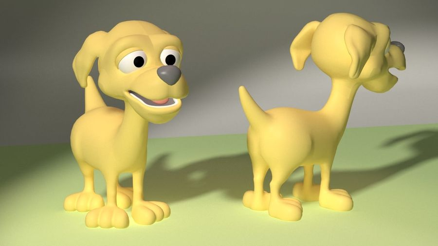 Cartoon Dog royalty-free 3d model - Preview no. 2