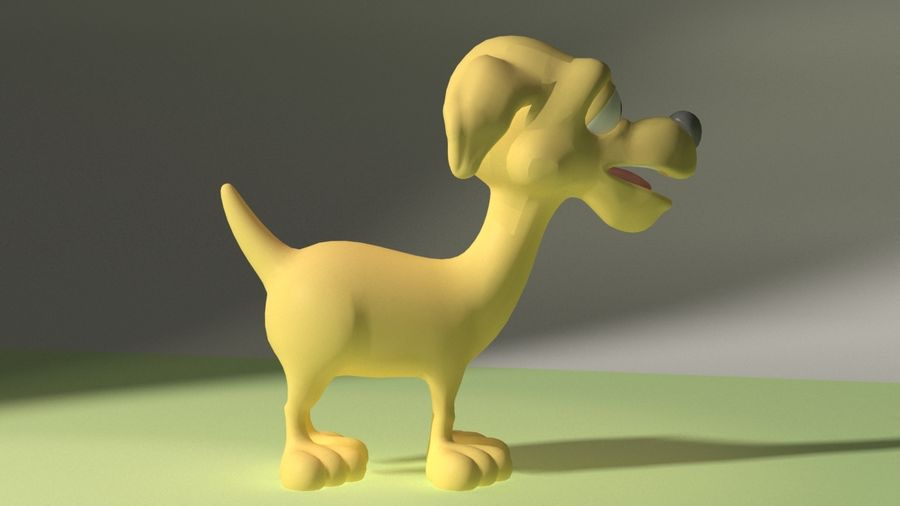 Cartoon Dog royalty-free 3d model - Preview no. 5