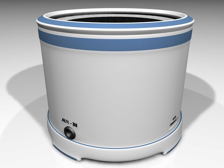 Wireless BT Speaker royalty-free 3d model - Preview no. 6