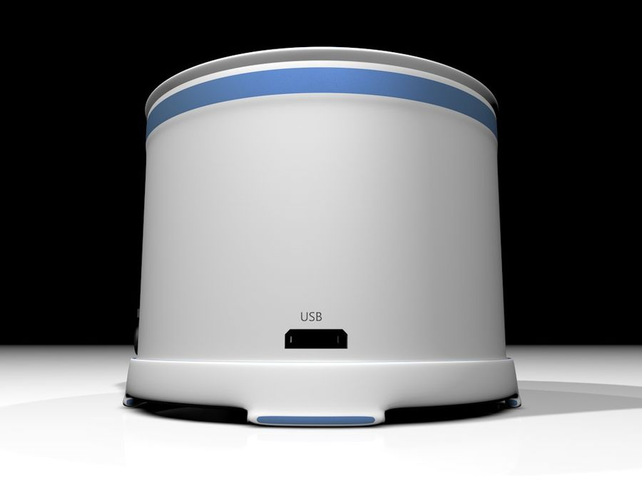 Wireless BT Speaker royalty-free 3d model - Preview no. 5