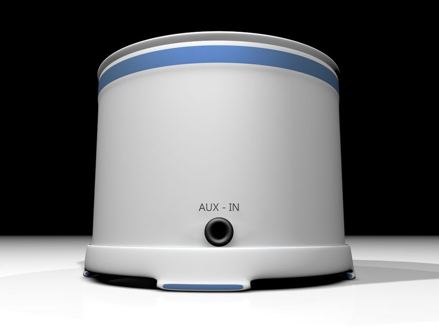 Wireless BT Speaker royalty-free 3d model - Preview no. 4