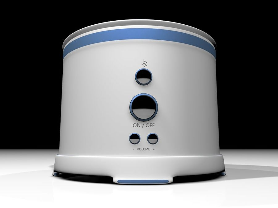Wireless BT Speaker royalty-free 3d model - Preview no. 3