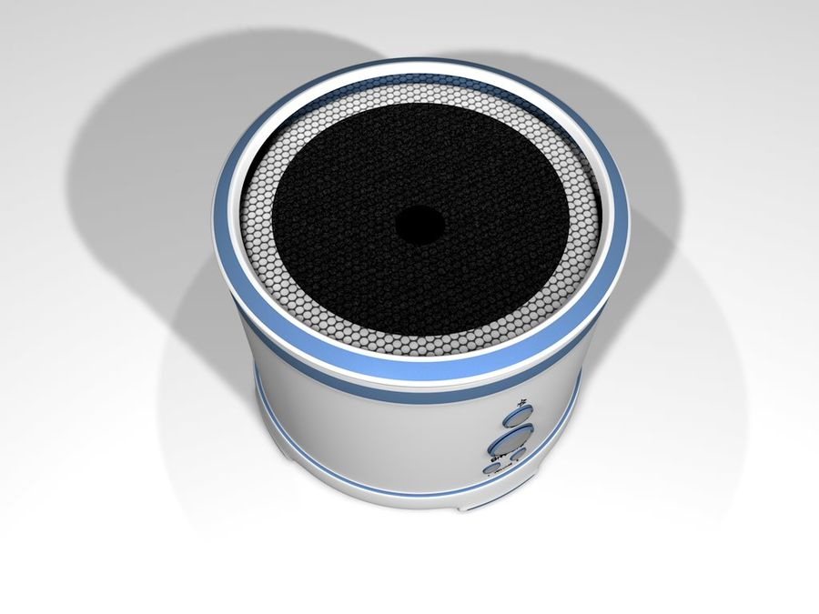Wireless BT Speaker royalty-free 3d model - Preview no. 2