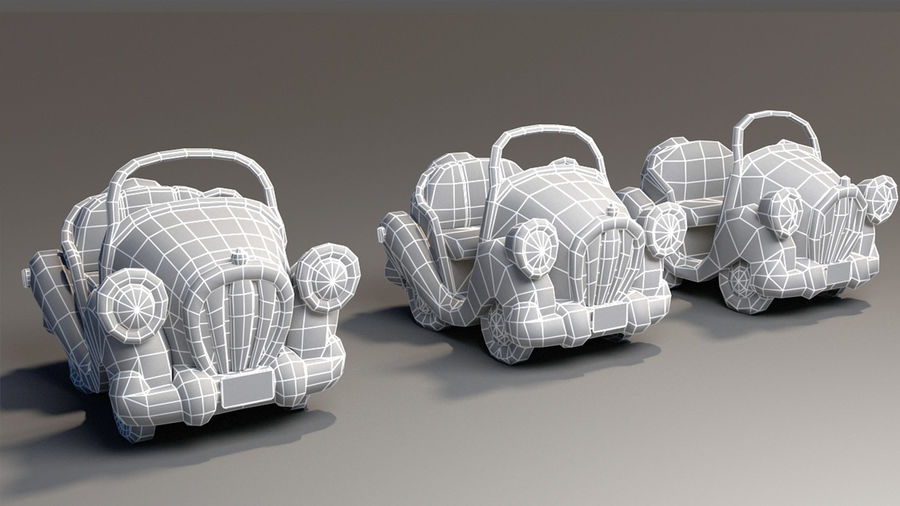 Toon Car royalty-free 3d model - Preview no. 14
