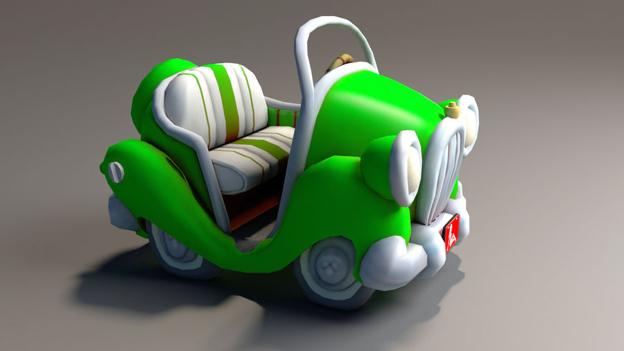 Toon Car royalty-free 3d model - Preview no. 10