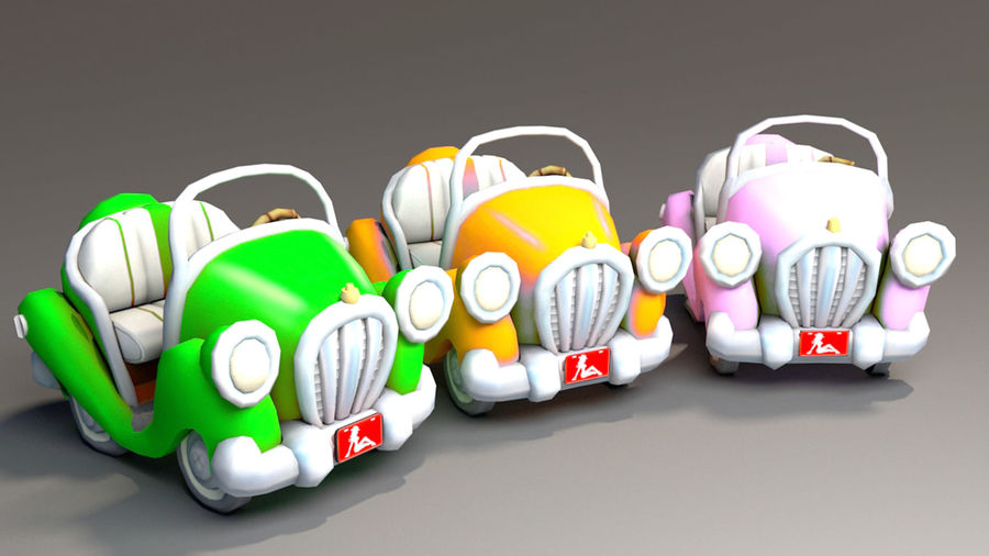 Toon Car royalty-free 3d model - Preview no. 9
