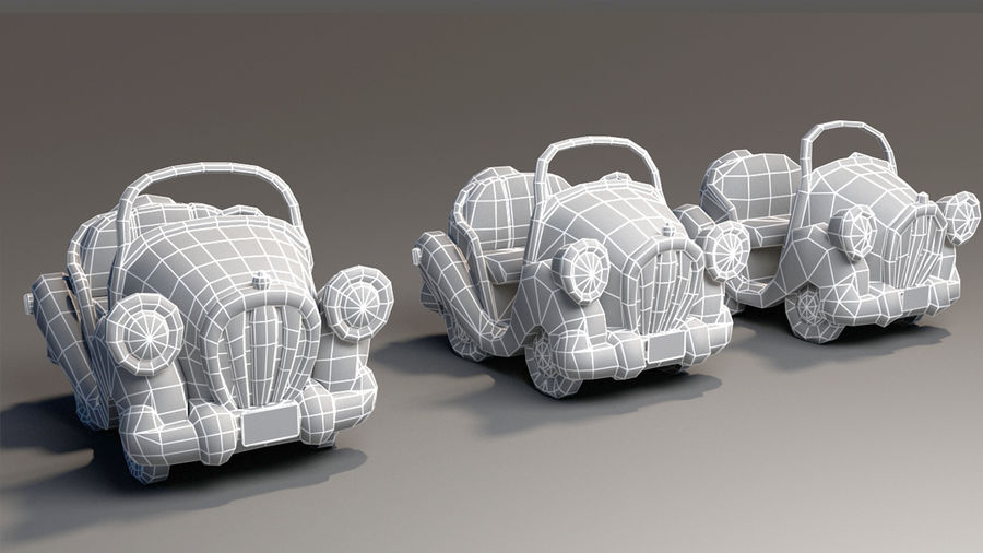 Toon Car royalty-free 3d model - Preview no. 6