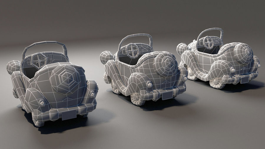 Toon Car royalty-free 3d model - Preview no. 7