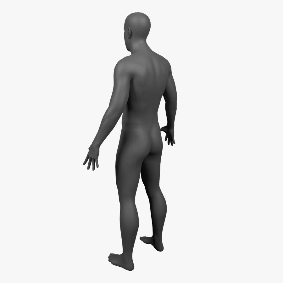Male Body - Rigged royalty-free 3d model - Preview no. 7