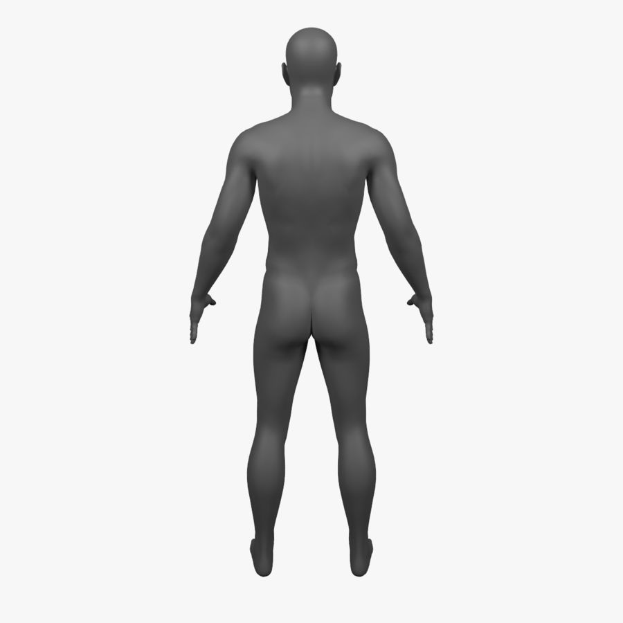 Male Body - Rigged royalty-free 3d model - Preview no. 6