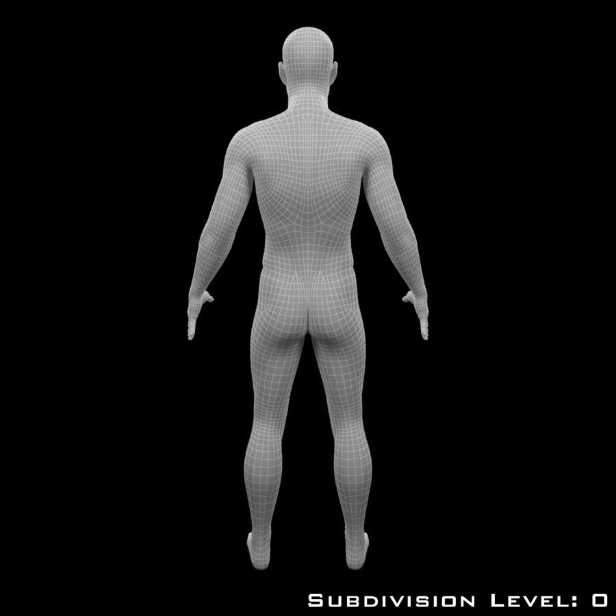 Male Body - Rigged royalty-free 3d model - Preview no. 15