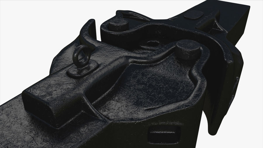 Train Car Connector royalty-free 3d model - Preview no. 5