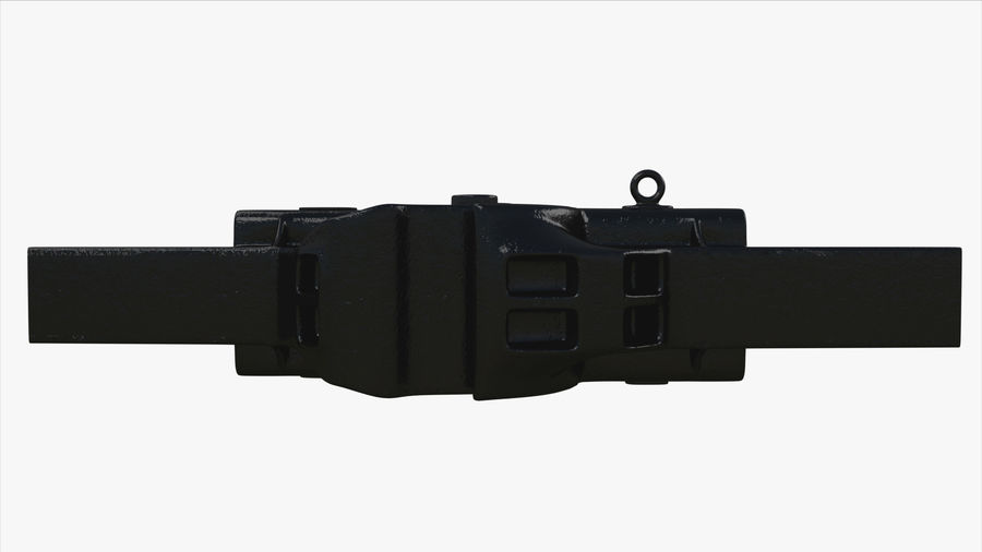 Train Car Connector royalty-free 3d model - Preview no. 4