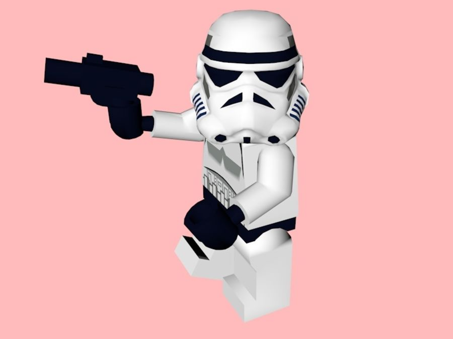 LEGO Stormtrooper royalty-free 3d model - Preview no. 4