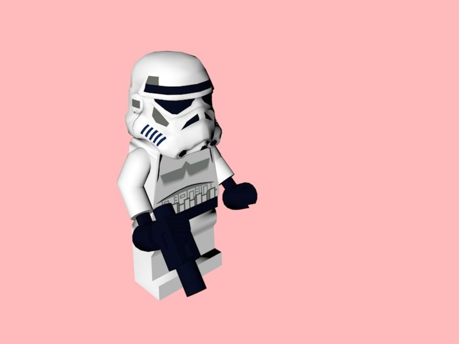 LEGO Stormtrooper royalty-free 3d model - Preview no. 2