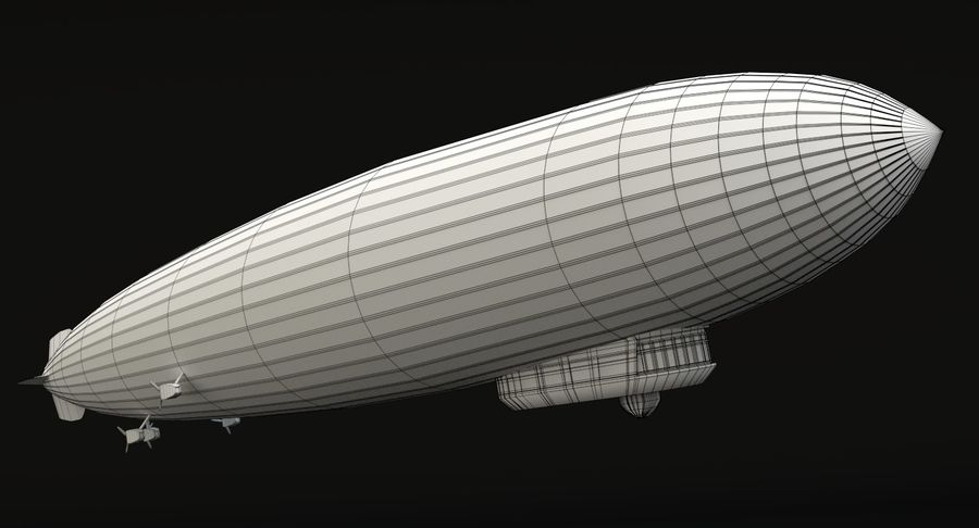 Graf Zeppelin royalty-free 3d model - Preview no. 12