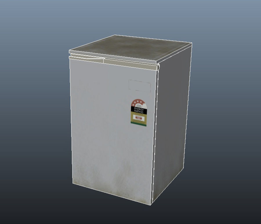 Bar Fridge royalty-free 3d model - Preview no. 5
