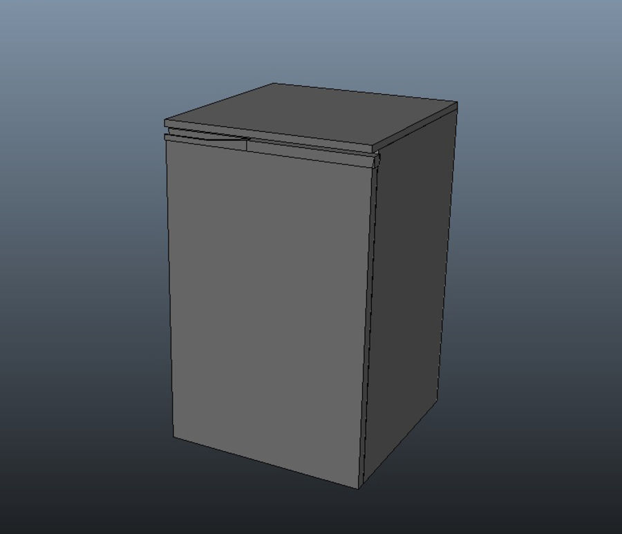 Bar Fridge royalty-free 3d model - Preview no. 7
