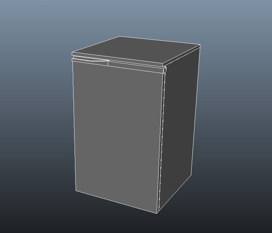 Bar Fridge royalty-free 3d model - Preview no. 6