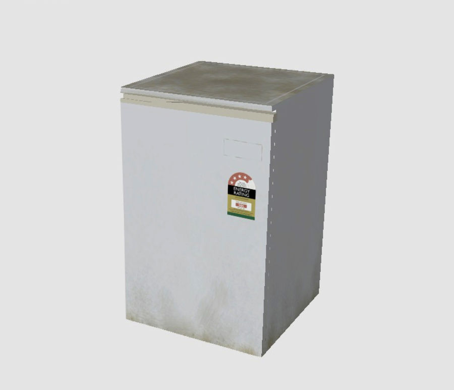 Bar Fridge royalty-free 3d model - Preview no. 2