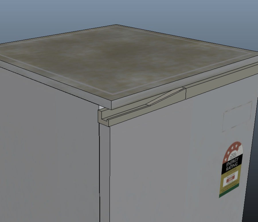 Bar Fridge royalty-free 3d model - Preview no. 8