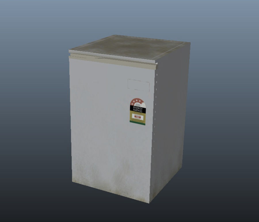 Bar Fridge royalty-free 3d model - Preview no. 3