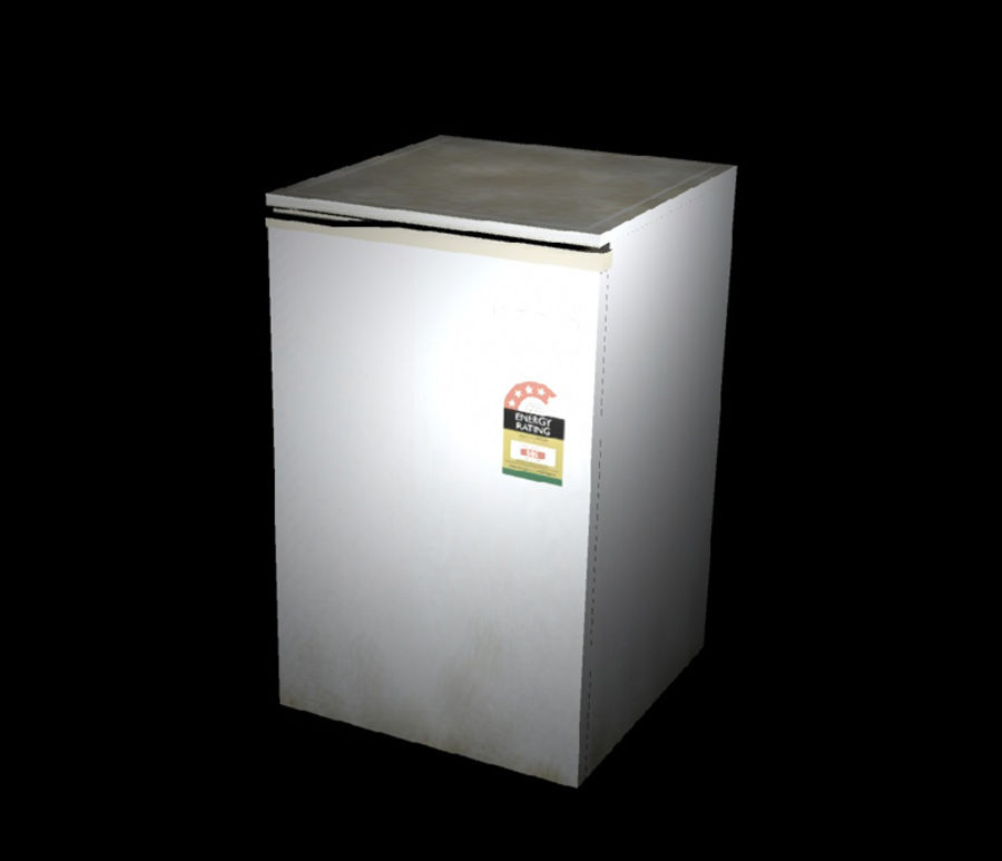 Bar Fridge royalty-free 3d model - Preview no. 1