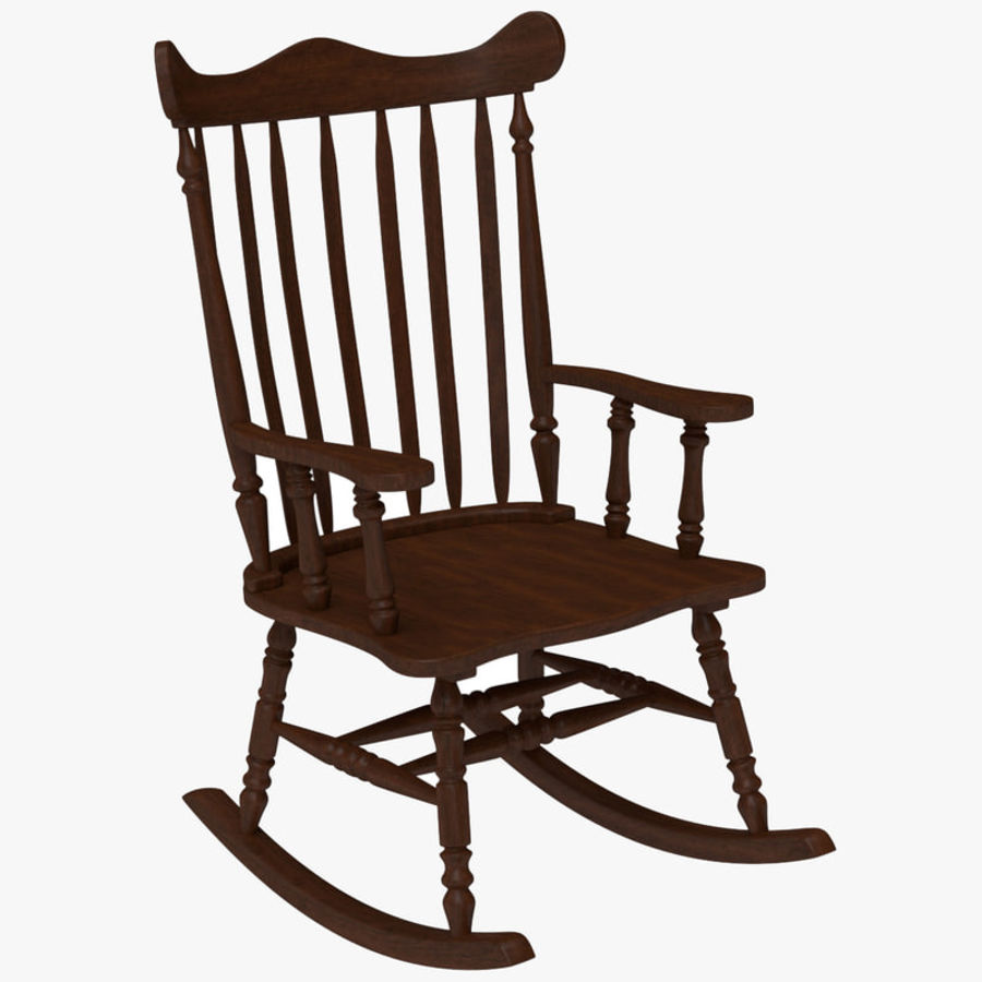 Rocking Chair Red Cherry royalty-free 3d model - Preview no. 1