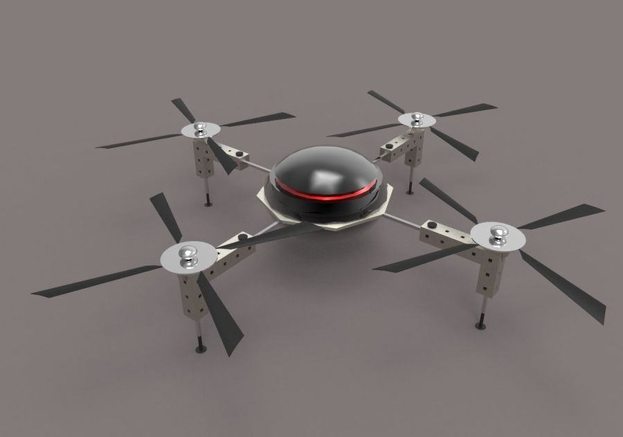 Drone royalty-free 3d model - Preview no. 3