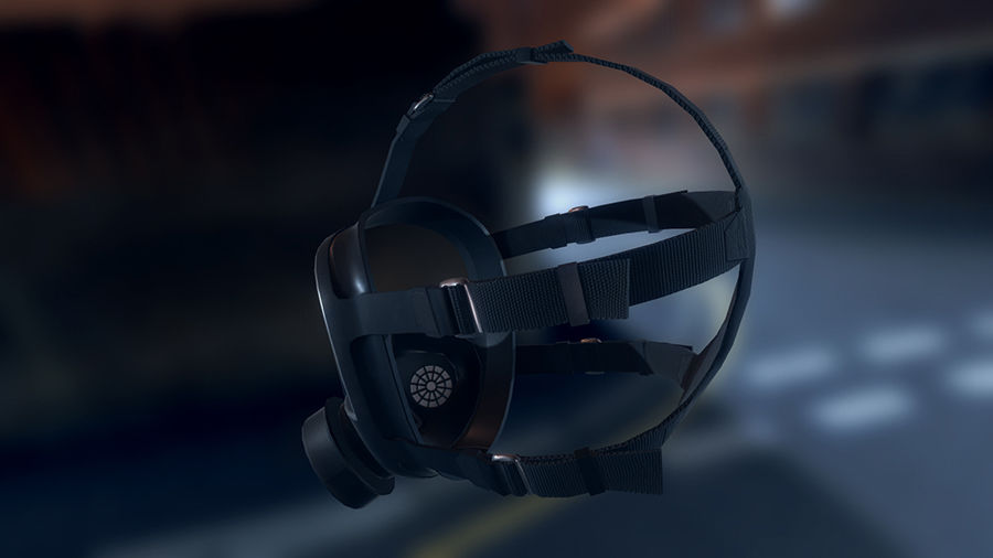 Gas Mask royalty-free 3d model - Preview no. 3
