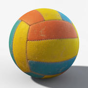 Dirty Ball Low Poly 3d model