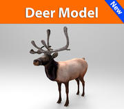 deer model low poly game ready 3d model