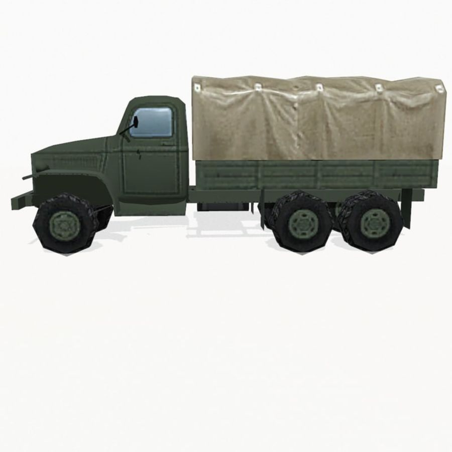 Camion militar royalty-free modelo 3d - Preview no. 4