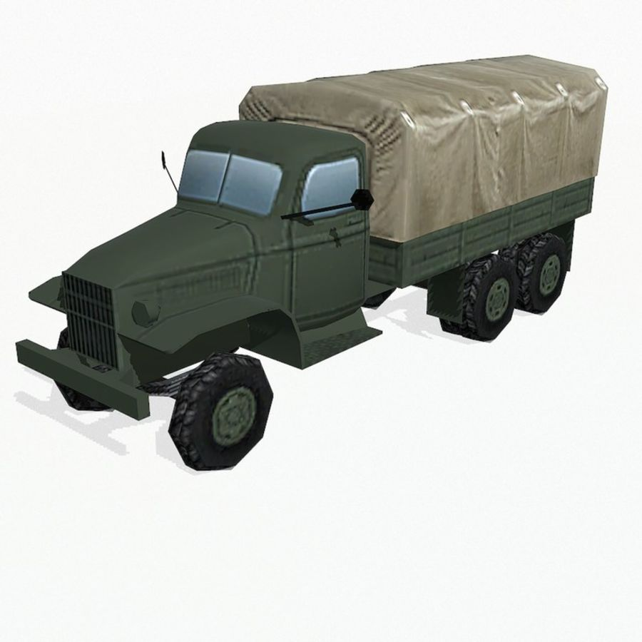 Camion militar royalty-free modelo 3d - Preview no. 2