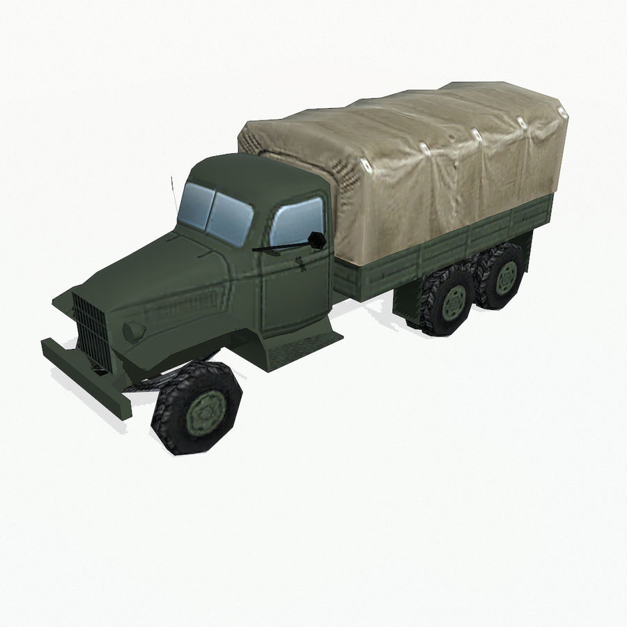 Camion militar royalty-free modelo 3d - Preview no. 3