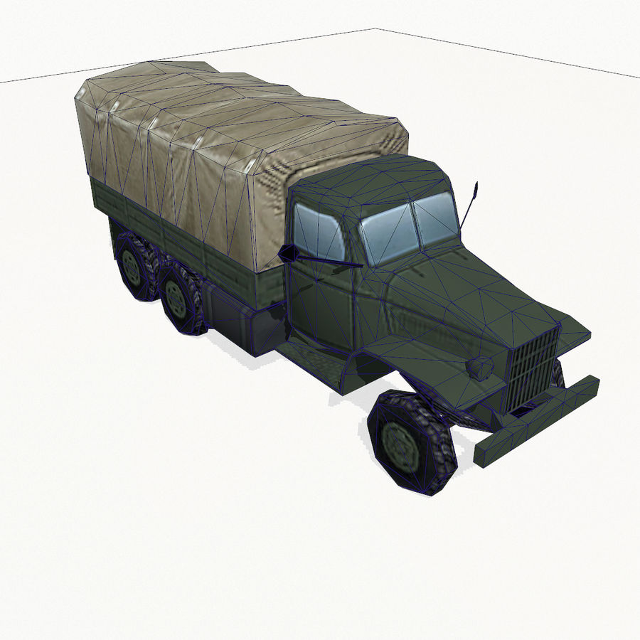 Camion militar royalty-free modelo 3d - Preview no. 12