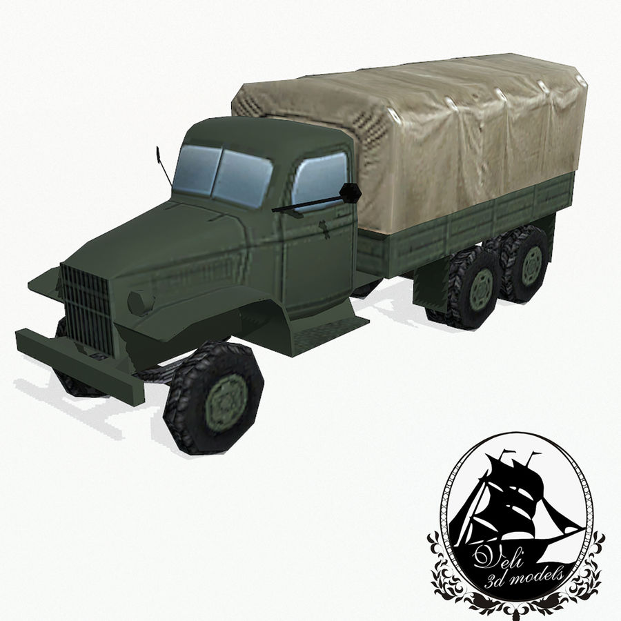 Camion militar royalty-free modelo 3d - Preview no. 1