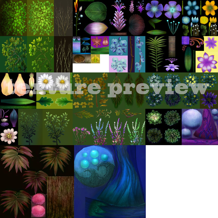 Plants Flower Collection royalty-free 3d model - Preview no. 10