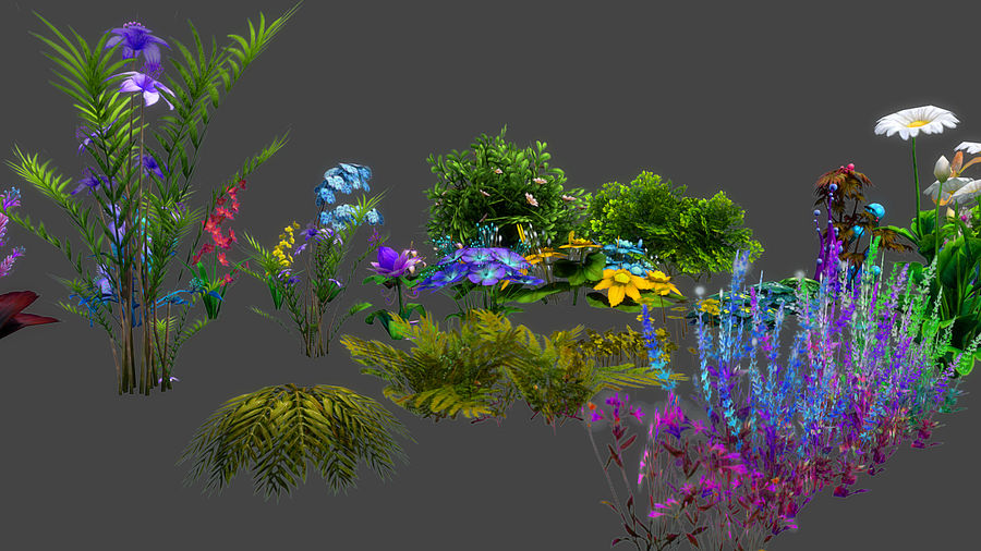 Plants Flower Collection royalty-free 3d model - Preview no. 6