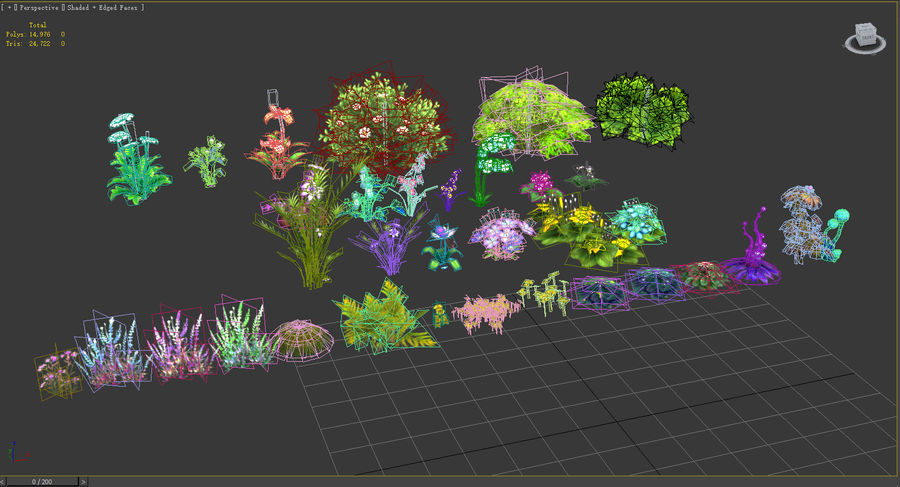 Plants Flower Collection royalty-free 3d model - Preview no. 9