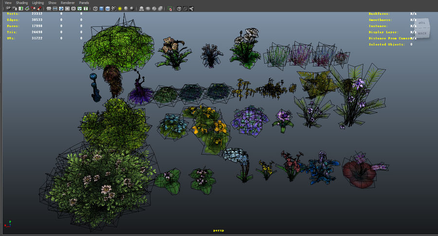 Plants Flower Collection royalty-free 3d model - Preview no. 8