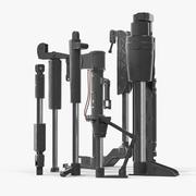 Ensemble de cylindres hydrauliques peints Sci-Fi 3d model