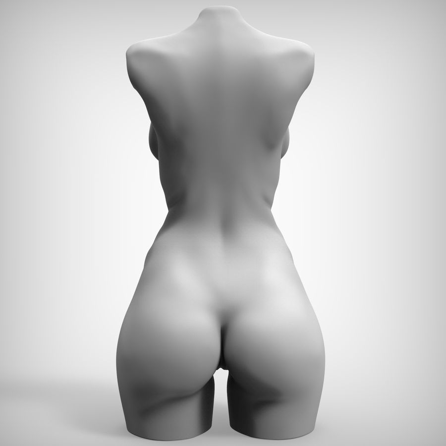 Tułów piękna kobieta royalty-free 3d model - Preview no. 8