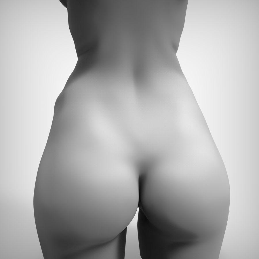 Tułów piękna kobieta royalty-free 3d model - Preview no. 10