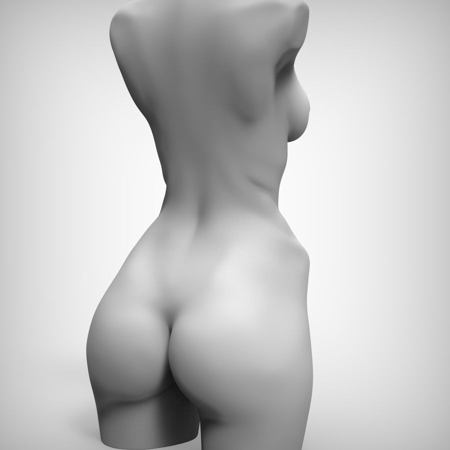 Tułów piękna kobieta royalty-free 3d model - Preview no. 9