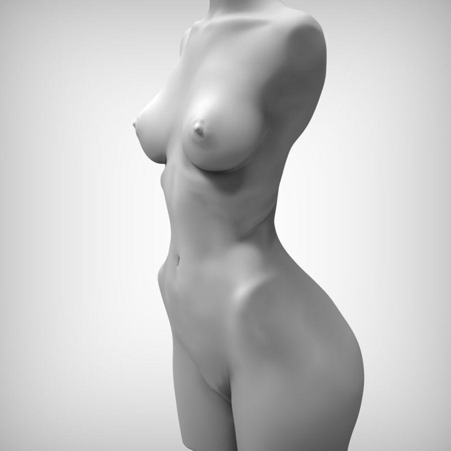 Tułów piękna kobieta royalty-free 3d model - Preview no. 6