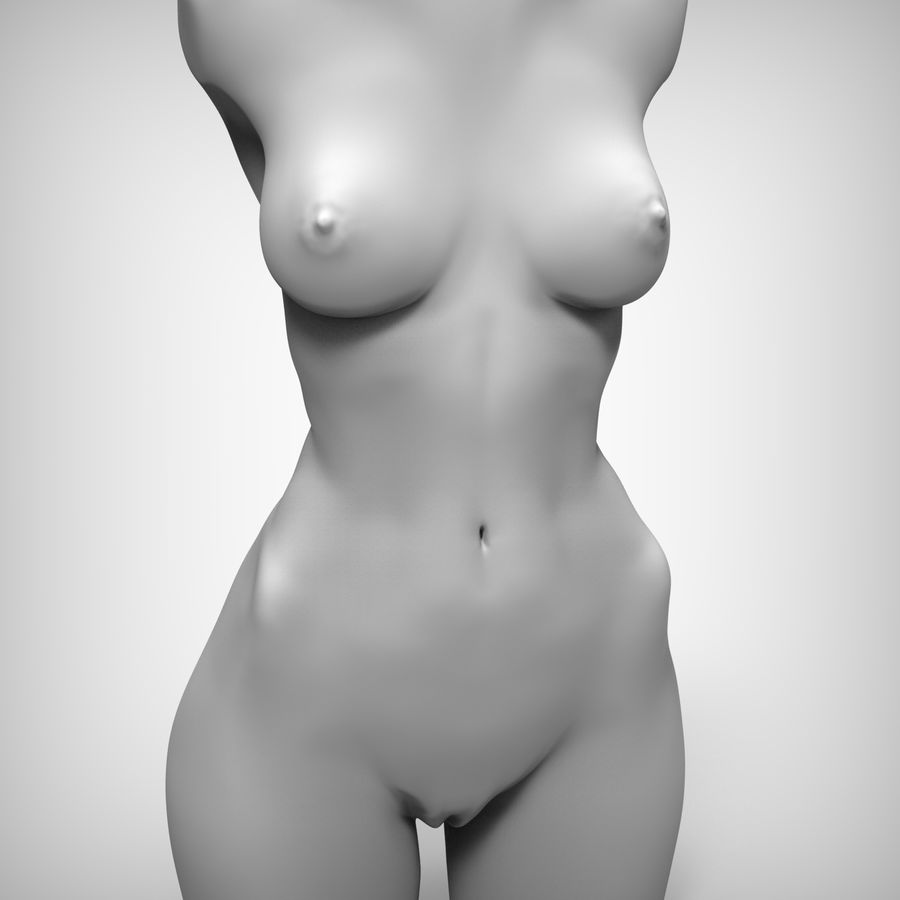 Tułów piękna kobieta royalty-free 3d model - Preview no. 2